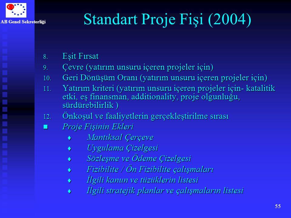Standart Proje Fişi (2004) Eşit Fırsat