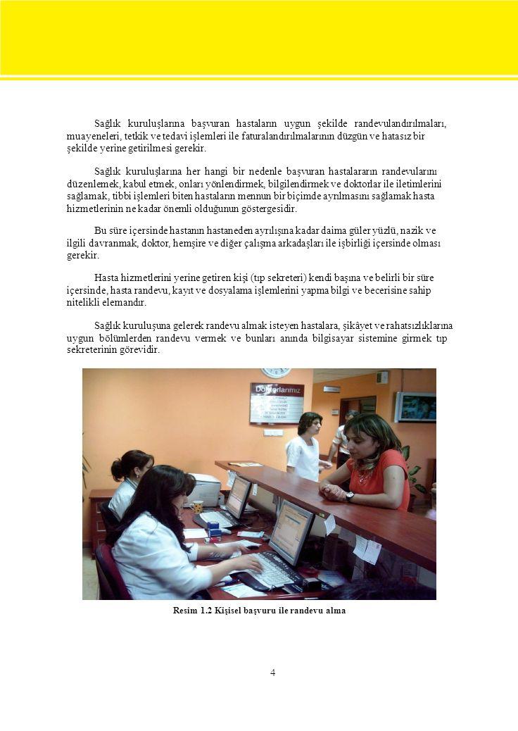 Sağlık kuruluşlarına başvuran hastaların uygun şekilde randevulandırılmaları,