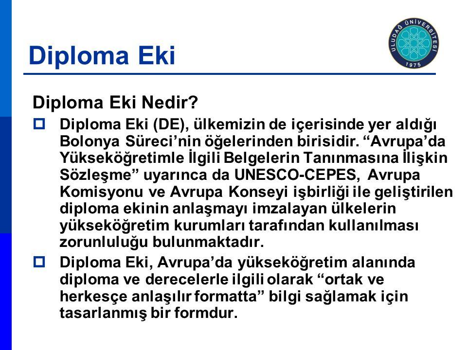 Diploma Eki Diploma Eki Nedir