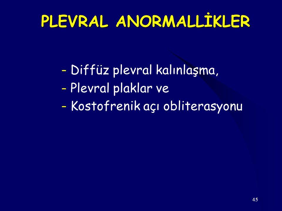 PLEVRAL ANORMALLİKLER