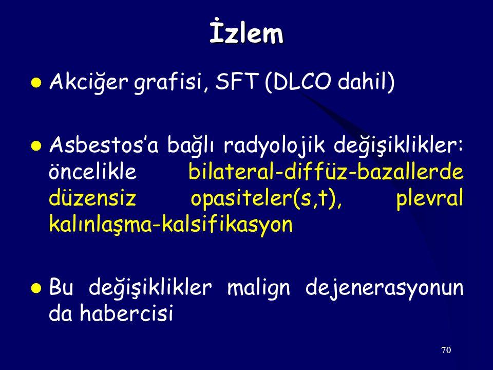 İzlem Akciğer grafisi, SFT (DLCO dahil)