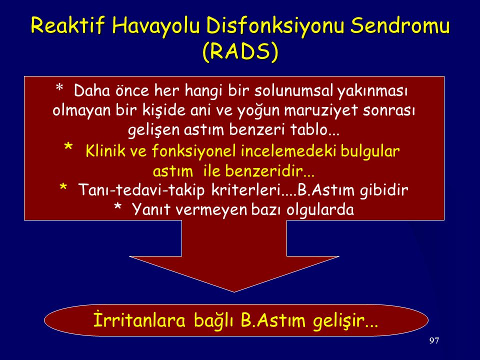 Reaktif Havayolu Disfonksiyonu Sendromu (RADS)
