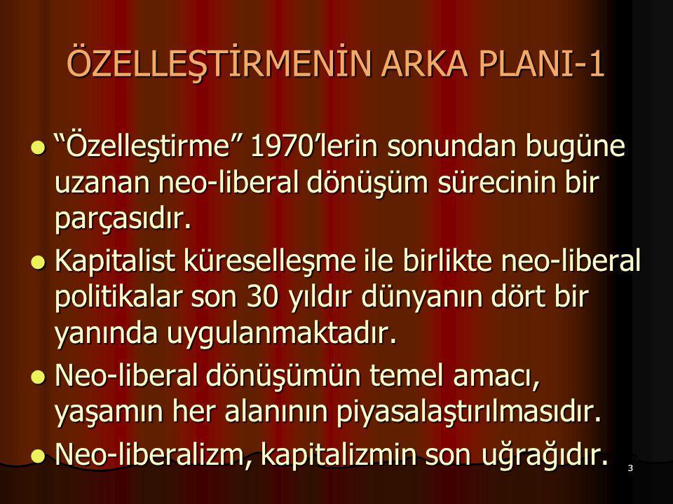 ÖZELLEŞTİRMENİN ARKA PLANI-1