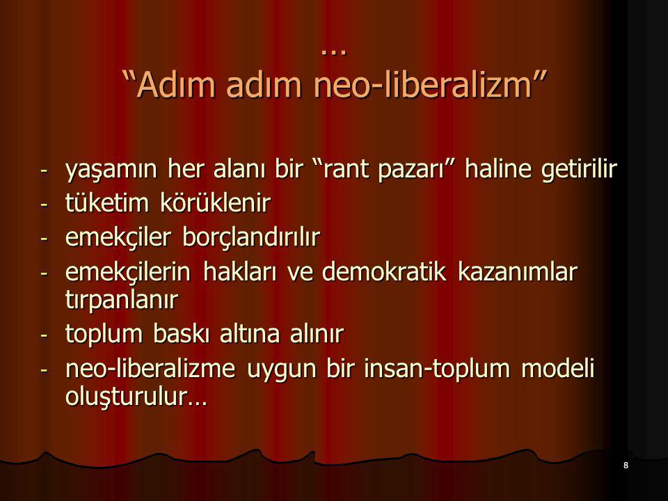 … Adım adım neo-liberalizm