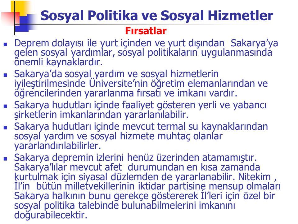 Sosyal Politika ve Sosyal Hizmetler