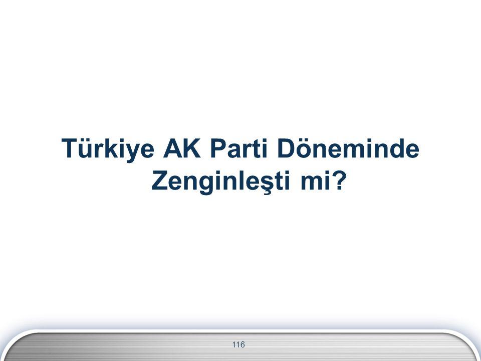Türkiye AK Parti Döneminde Zenginleşti mi