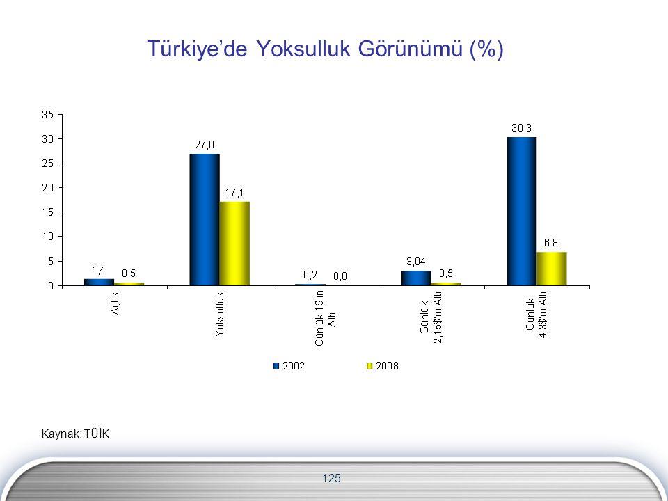 Türkiye'de Yoksulluk Görünümü (%)