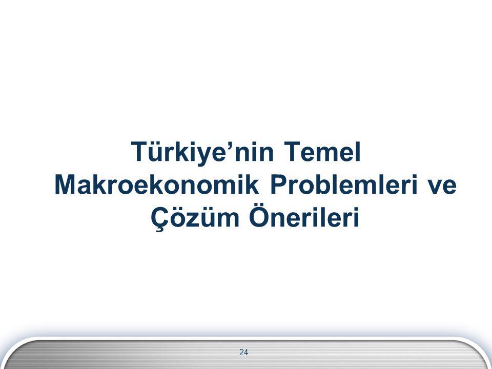 Türkiye'nin Temel Makroekonomik Problemleri ve Çözüm Önerileri