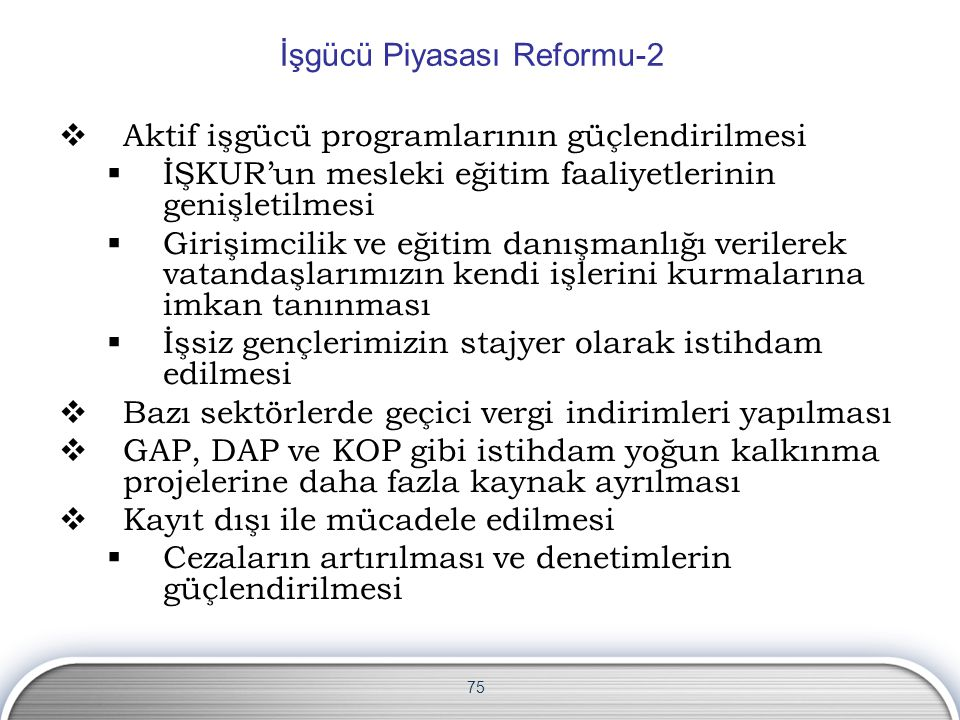 İşgücü Piyasası Reformu-2