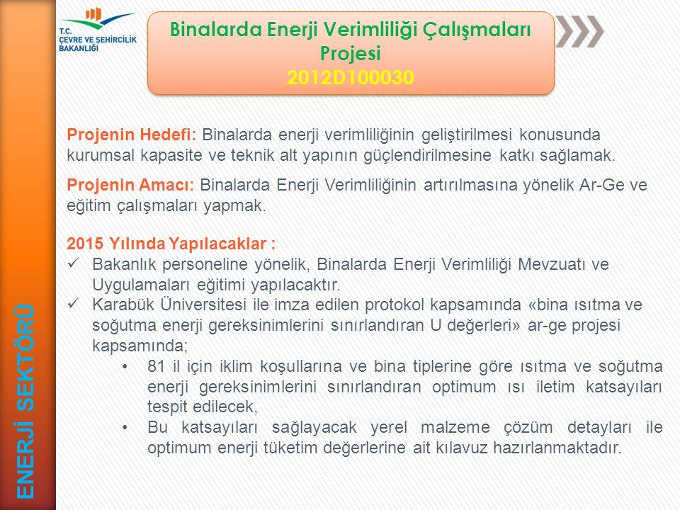 Binalarda Enerji Verimliliği Çalışmaları Projesi