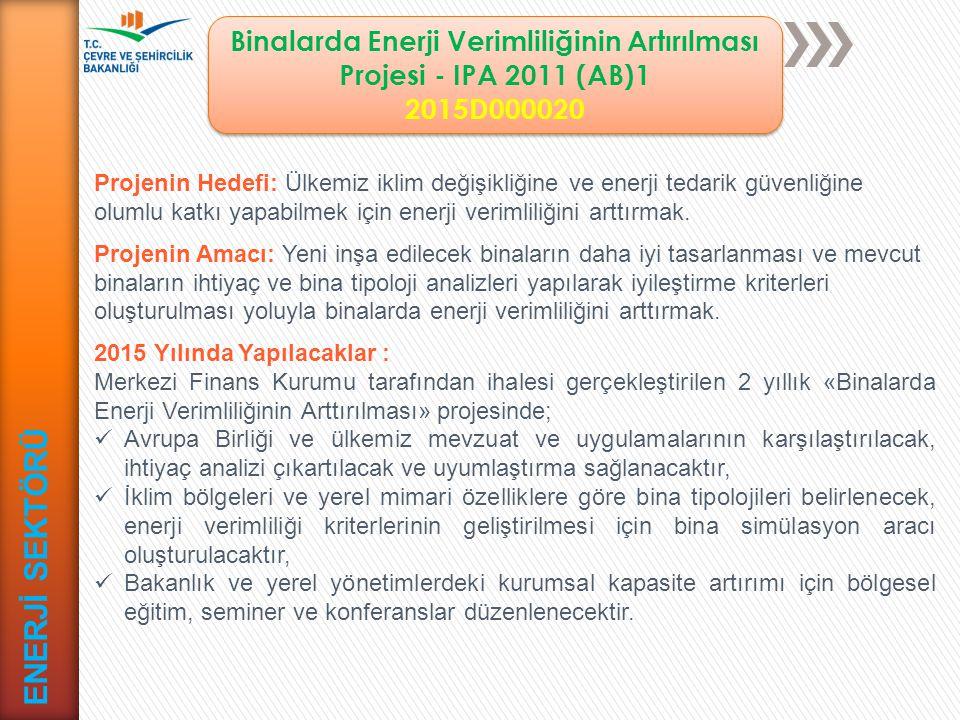 Binalarda Enerji Verimliliğinin Artırılması Projesi - IPA 2011 (AB)1