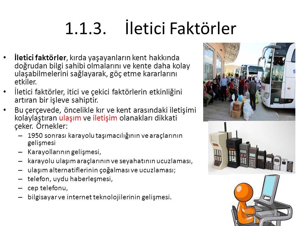1.1.3. İletici Faktörler