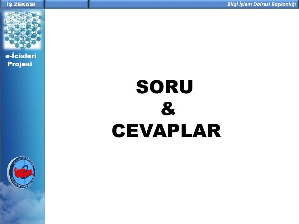 e-İcisleri Projesi SORU & CEVAPLAR