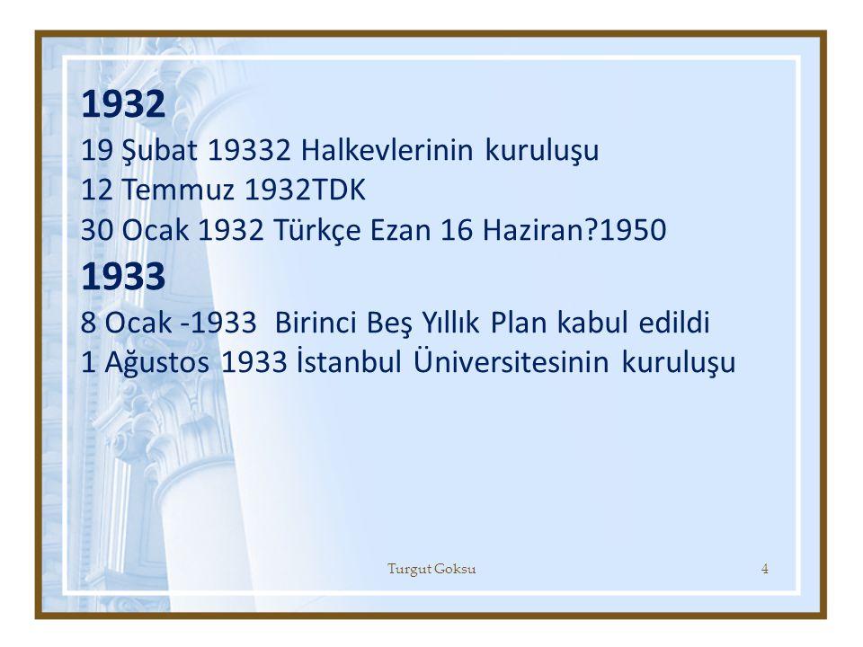 1932 1933 19 Şubat 19332 Halkevlerinin kuruluşu 12 Temmuz 1932TDK
