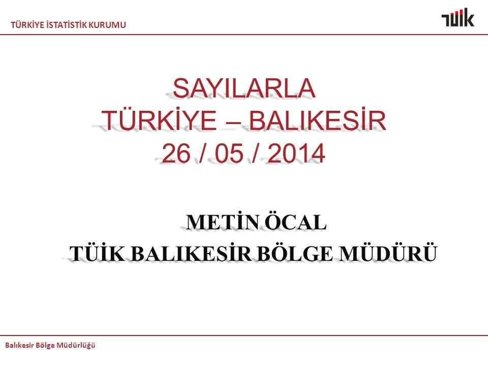 SAYILARLA TÜRKİYE – BALIKESİR 26 / 05 / 2014