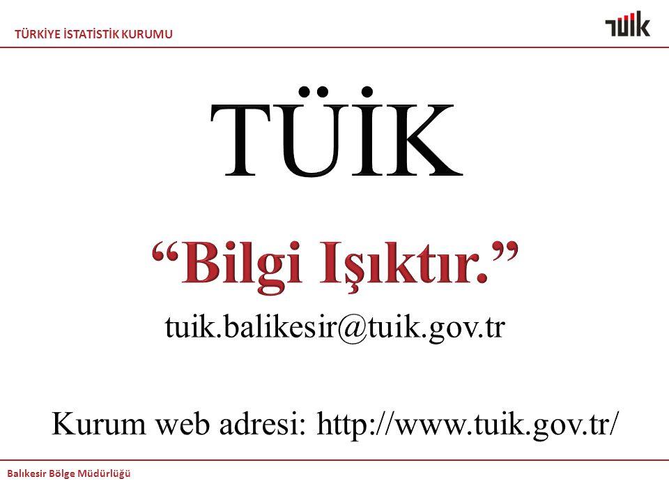 Kurum web adresi: http://www.tuik.gov.tr/