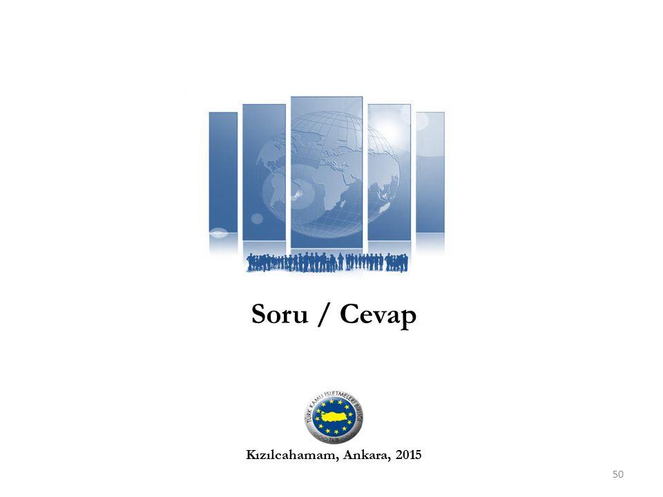 Soru / Cevap Kızılcahamam, Ankara, 2015