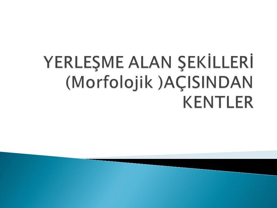 YERLEŞME ALAN ŞEKİLLERİ (Morfolojik )AÇISINDAN KENTLER
