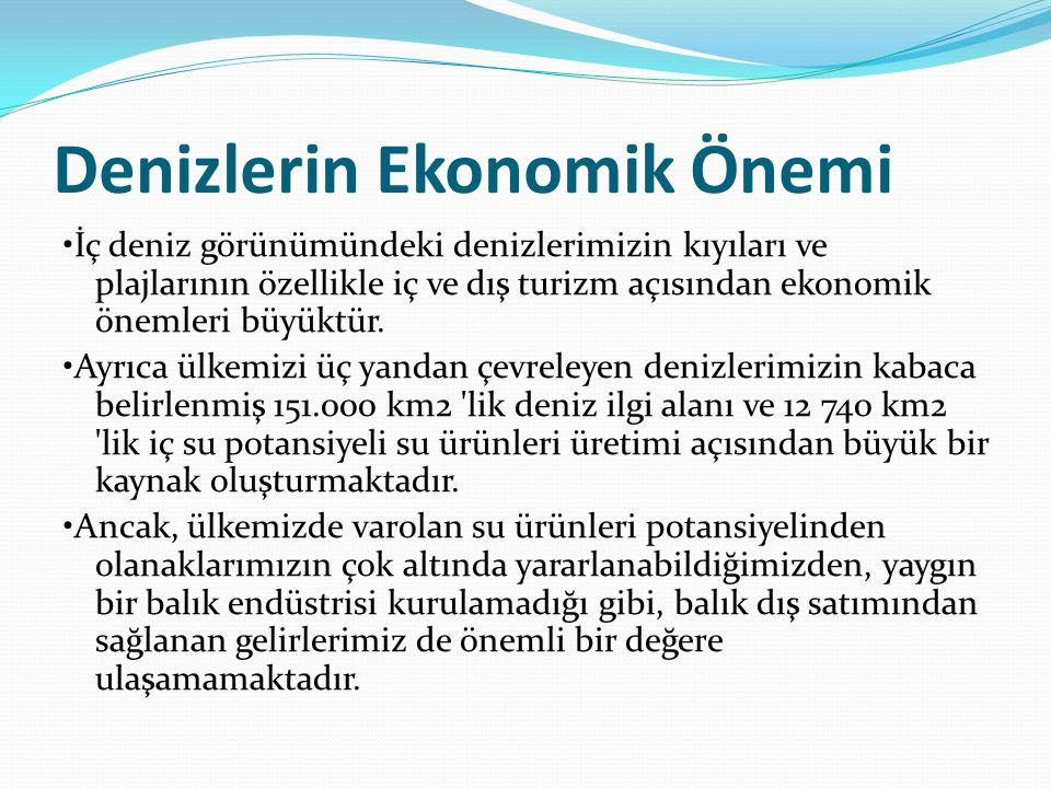 Denizlerin Ekonomik Önemi