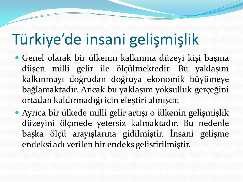Türkiye'de insani gelişmişlik