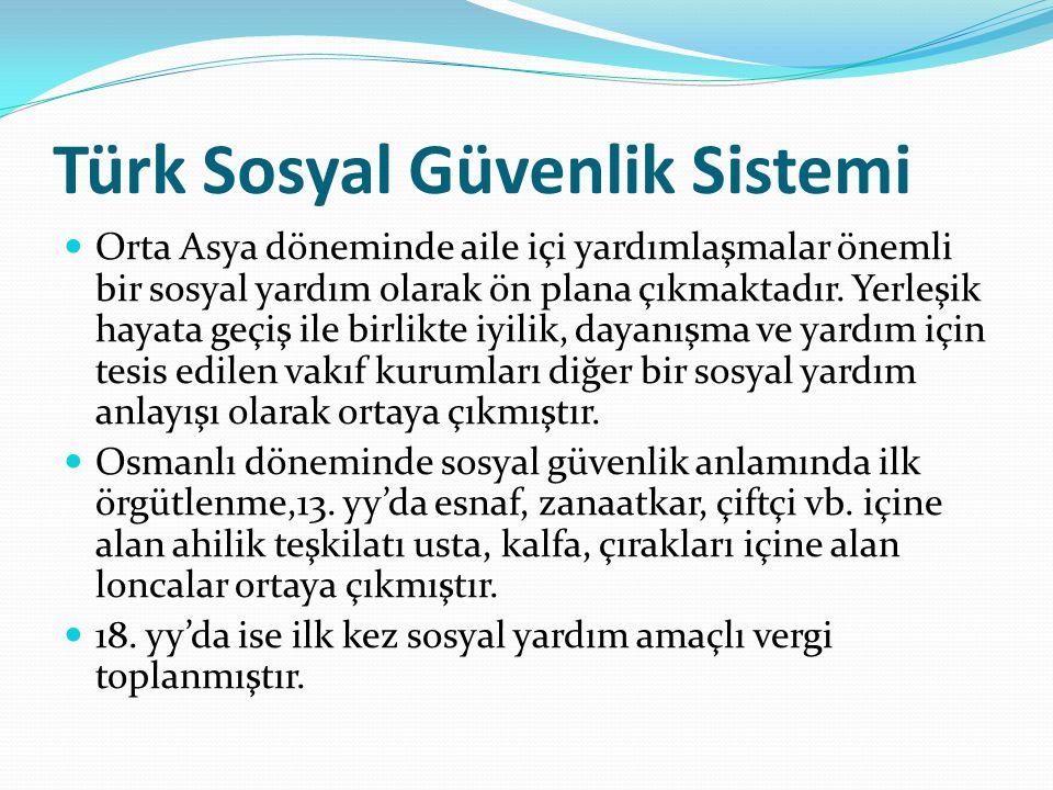 Türk Sosyal Güvenlik Sistemi