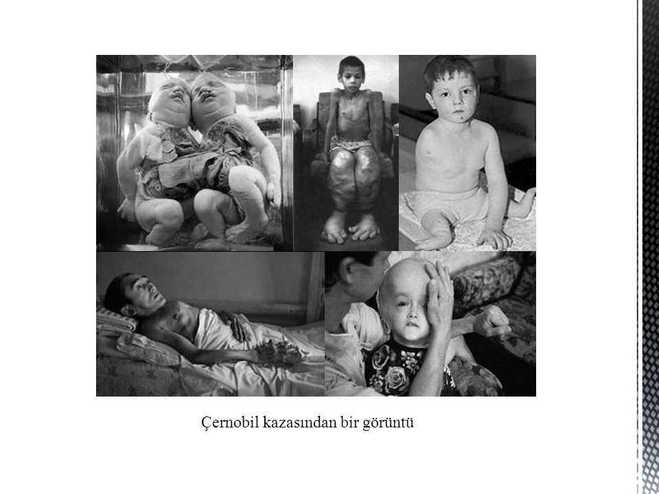 Çernobil kazasından bir görüntü