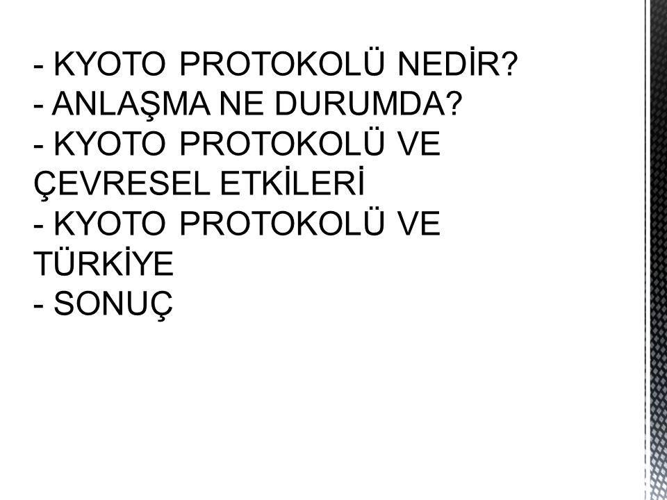 - KYOTO PROTOKOLÜ NEDİR