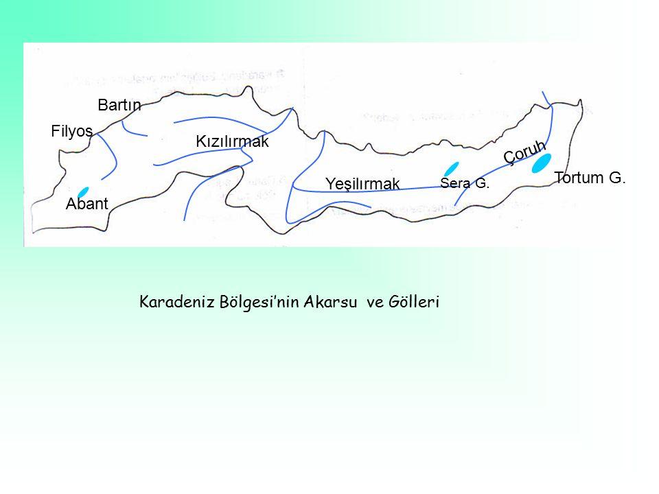 Karadeniz Bölgesi'nin Akarsu ve Gölleri