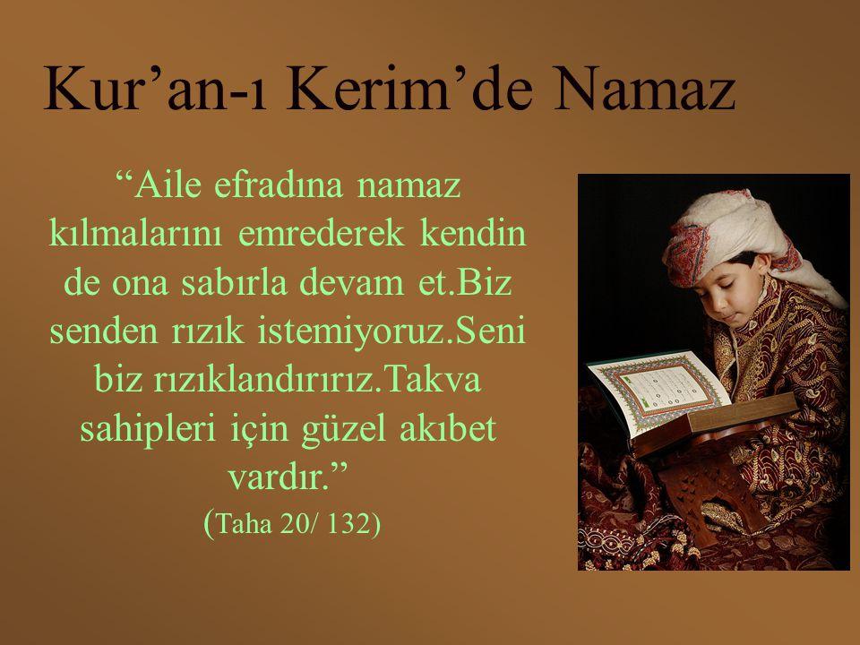 Kur'an-ı Kerim'de Namaz