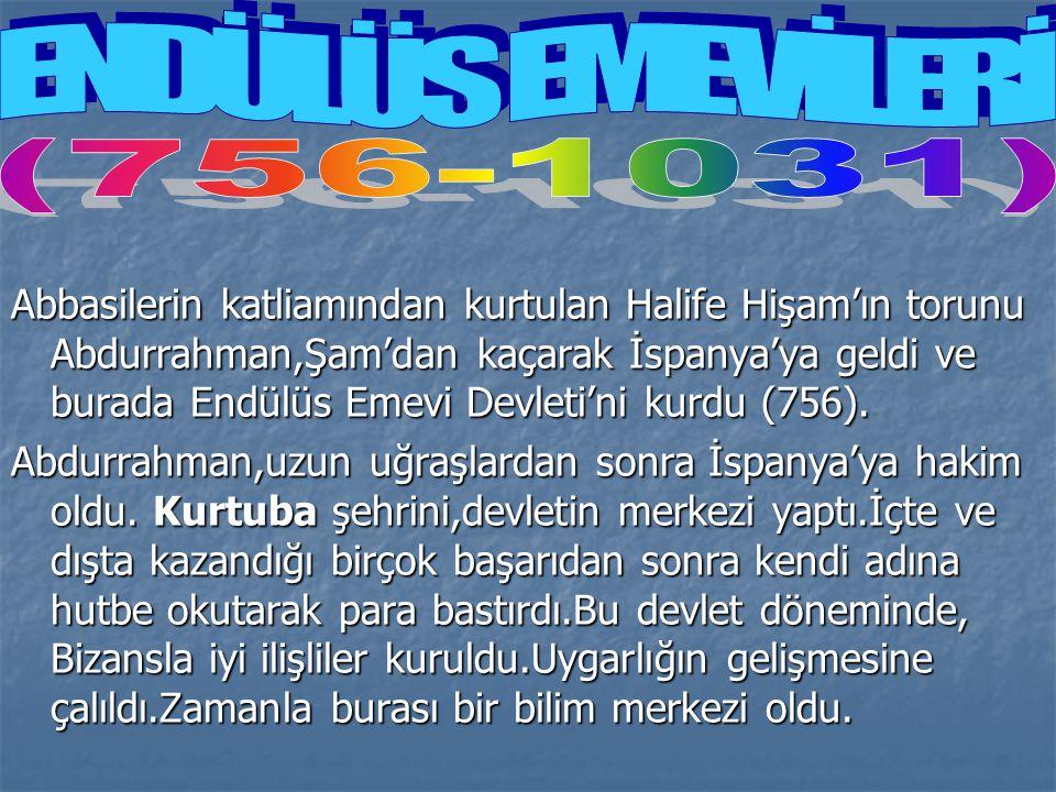 ENDÜLÜS EMEVİLERİ (756-1031)
