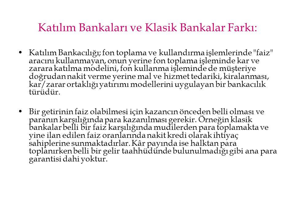 Katılım Bankaları ve Klasik Bankalar Farkı: