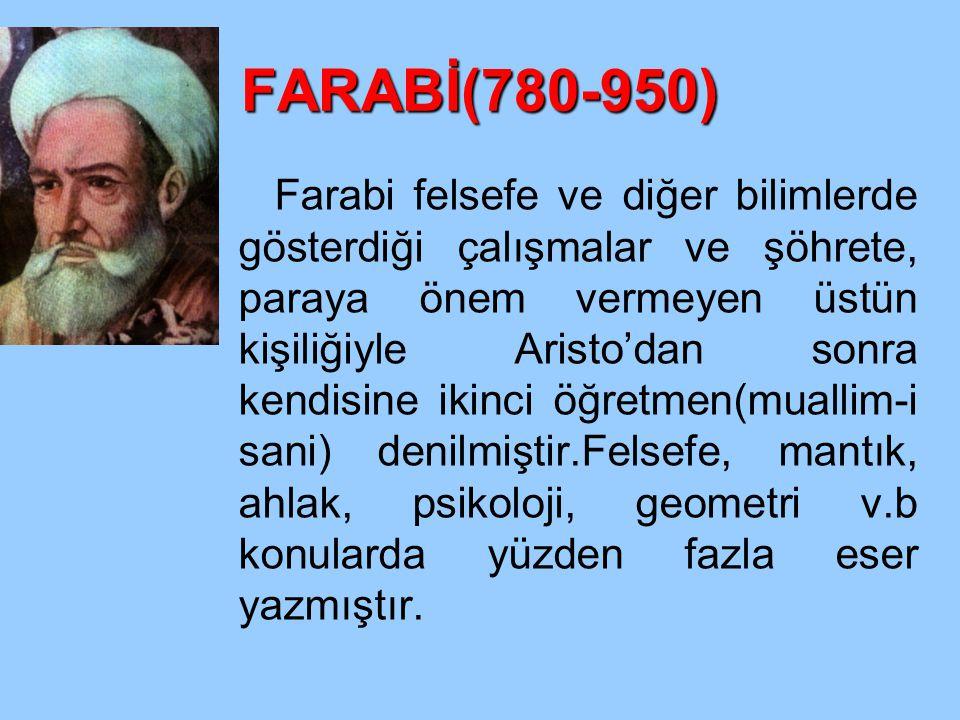 FARABİ(780-950)