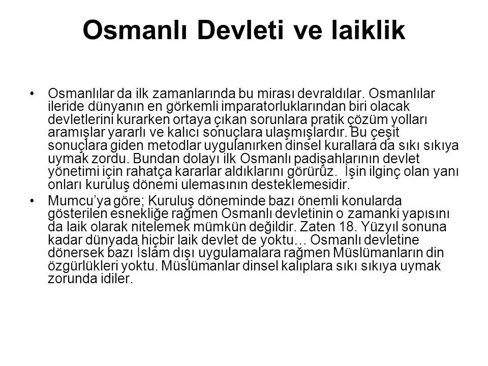 Osmanlı Devleti ve laiklik