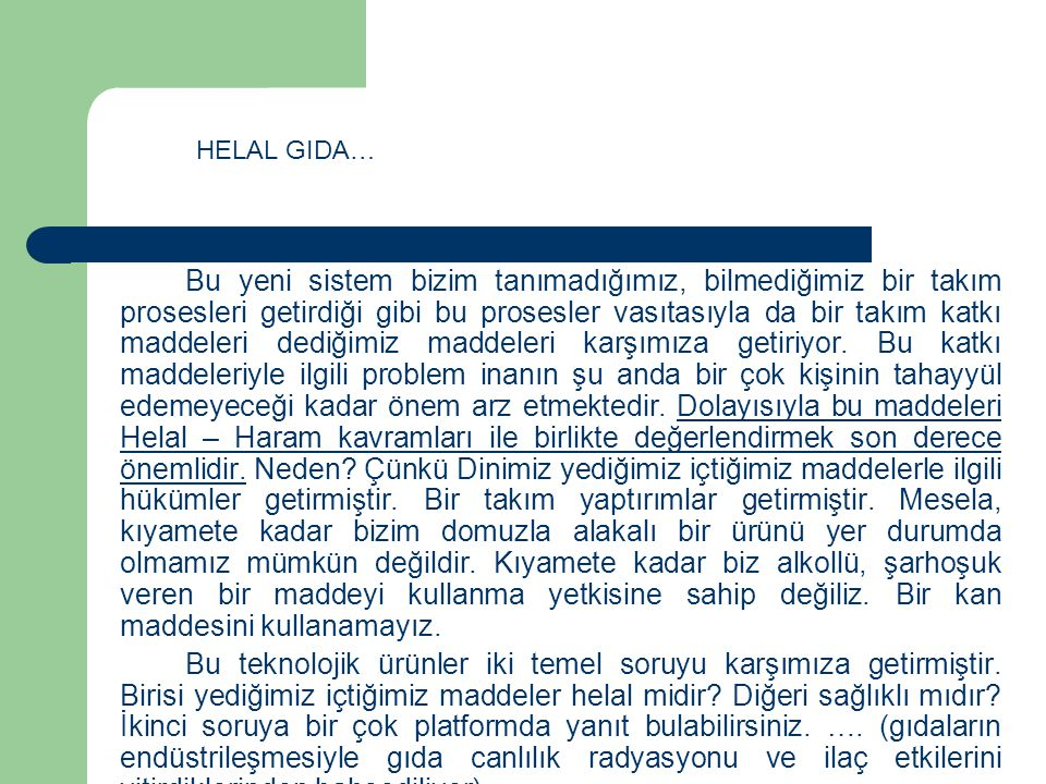 HELAL GIDA…