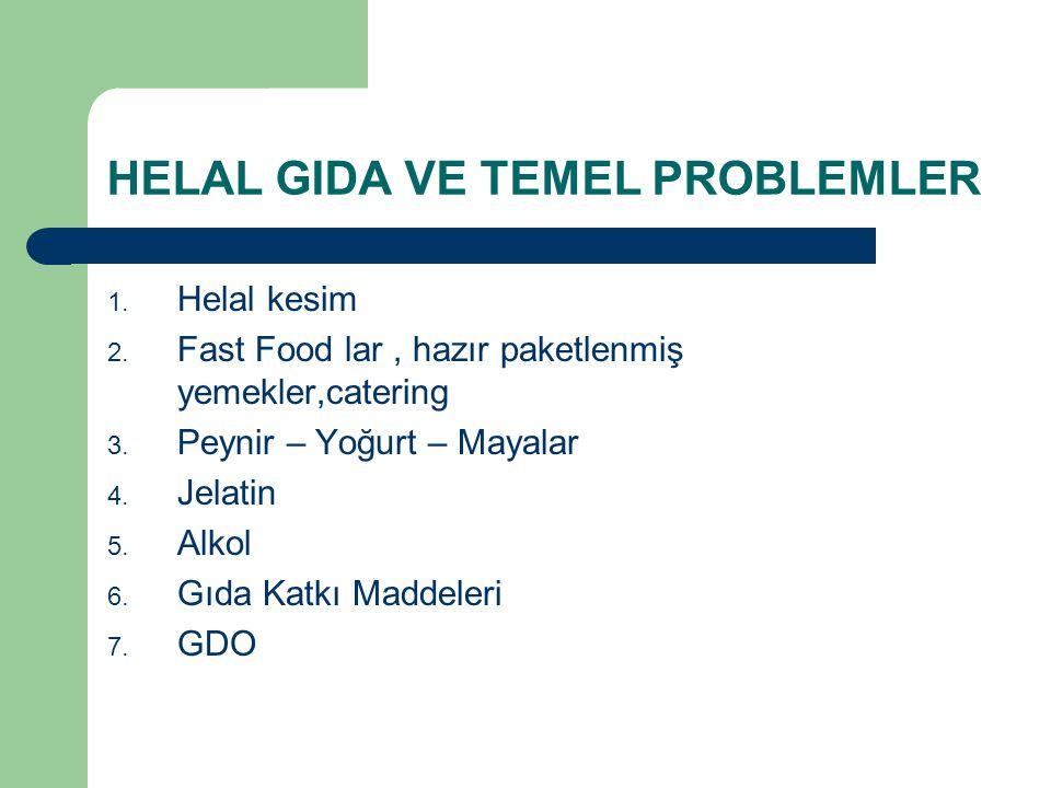 HELAL GIDA VE TEMEL PROBLEMLER