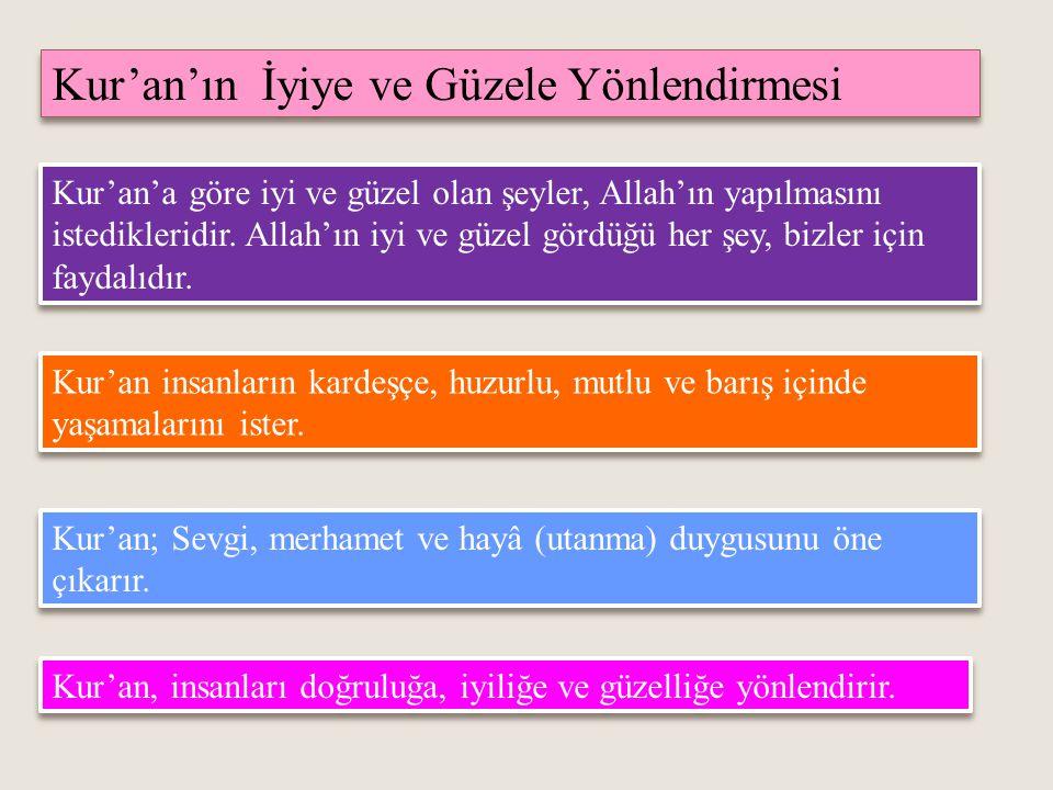 Kur'an'ın İyiye ve Güzele Yönlendirmesi