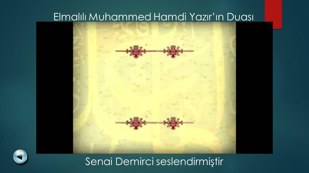 Elmalılı Muhammed Hamdi Yazır'ın Duası