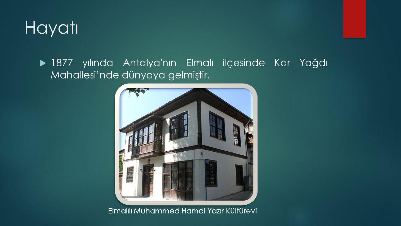 Hayatı 1877 yılında Antalya nın Elmalı ilçesinde Kar Yağdı Mahallesi'nde dünyaya gelmiştir.
