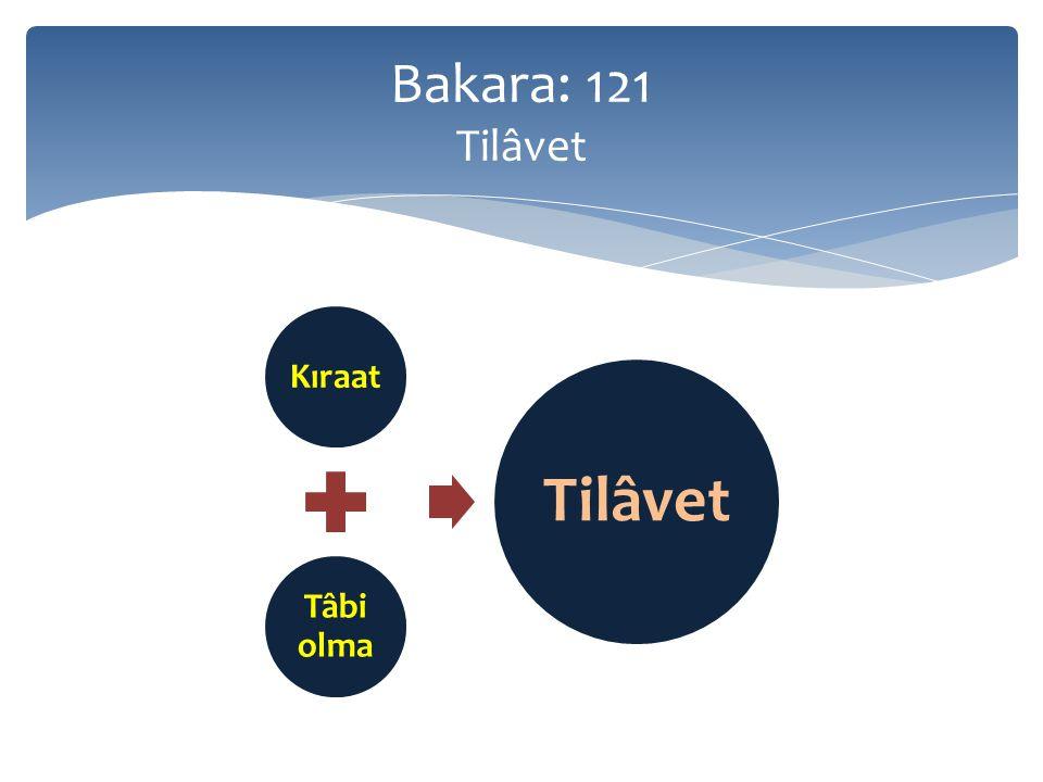 Bakara: 121 Tilâvet Kıraat Tâbi olma Tilâvet