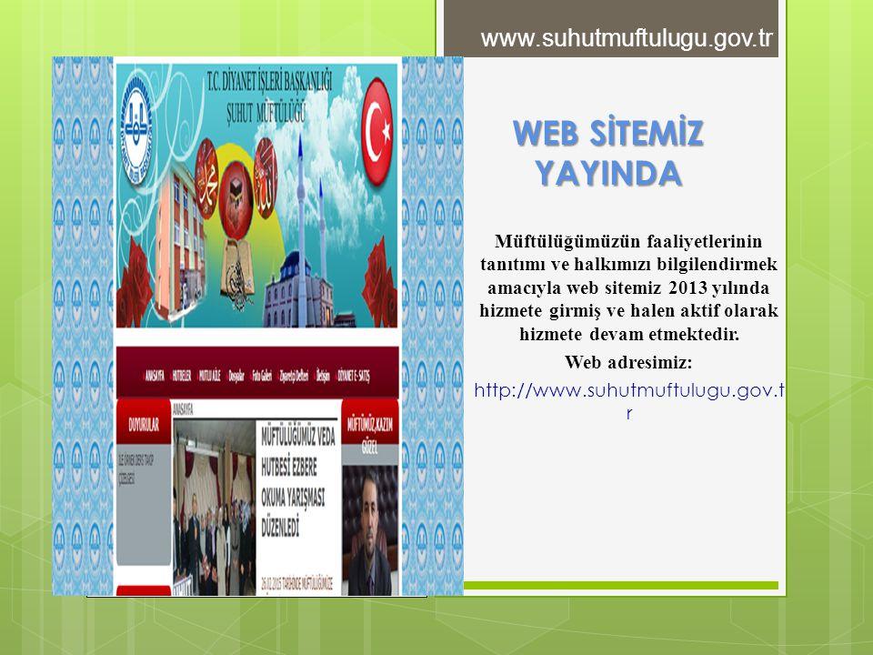 WEB SİTEMİZ YAYINDA www.suhutmuftulugu.gov.tr
