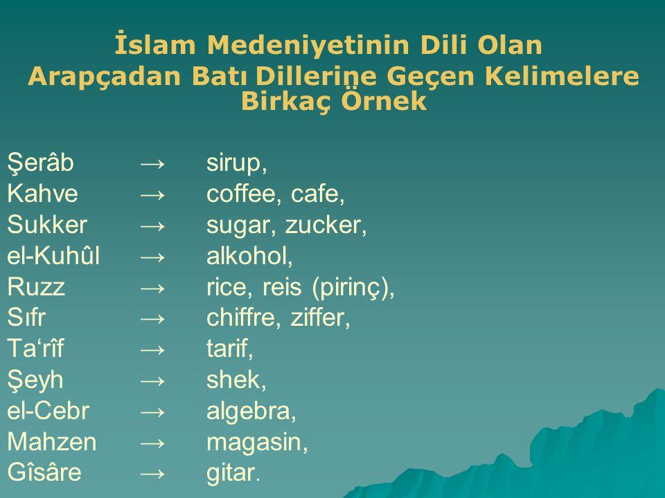 İslam Medeniyetinin Dili Olan