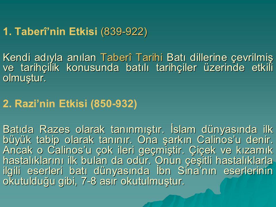 1. Taberî'nin Etkisi (839-922)