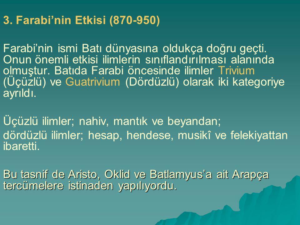 3. Farabi'nin Etkisi (870-950)