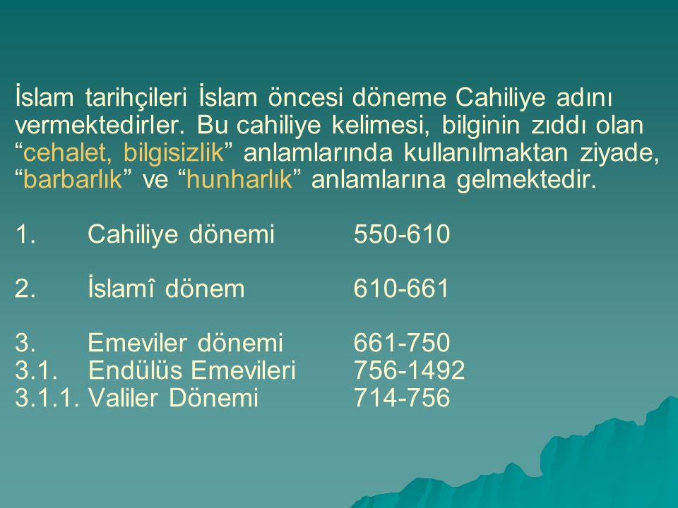 İslam tarihçileri İslam öncesi döneme Cahiliye adını vermektedirler