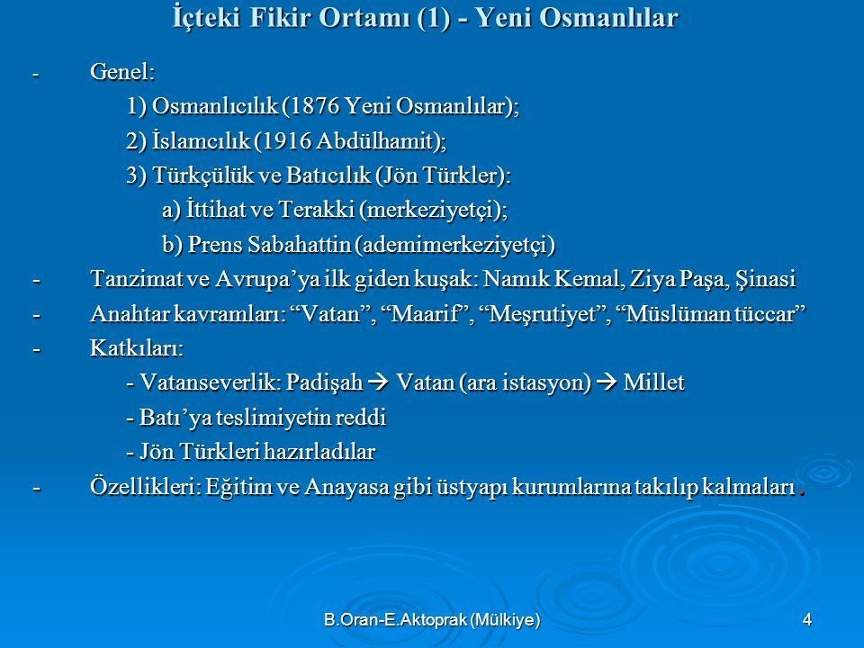 İçteki Fikir Ortamı (1) - Yeni Osmanlılar