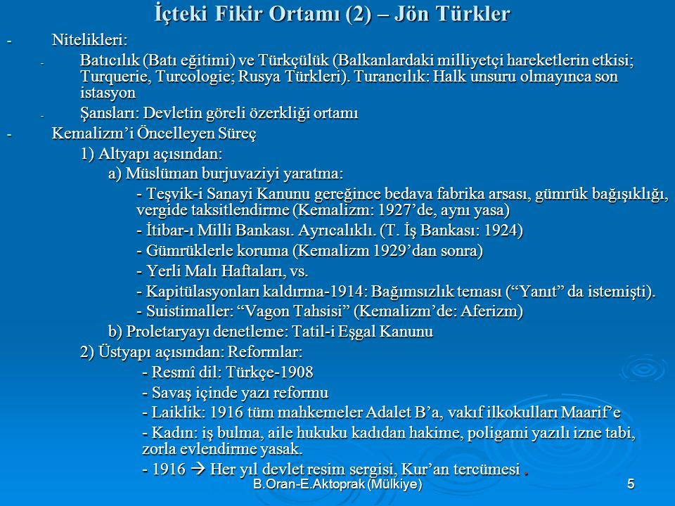İçteki Fikir Ortamı (2) – Jön Türkler