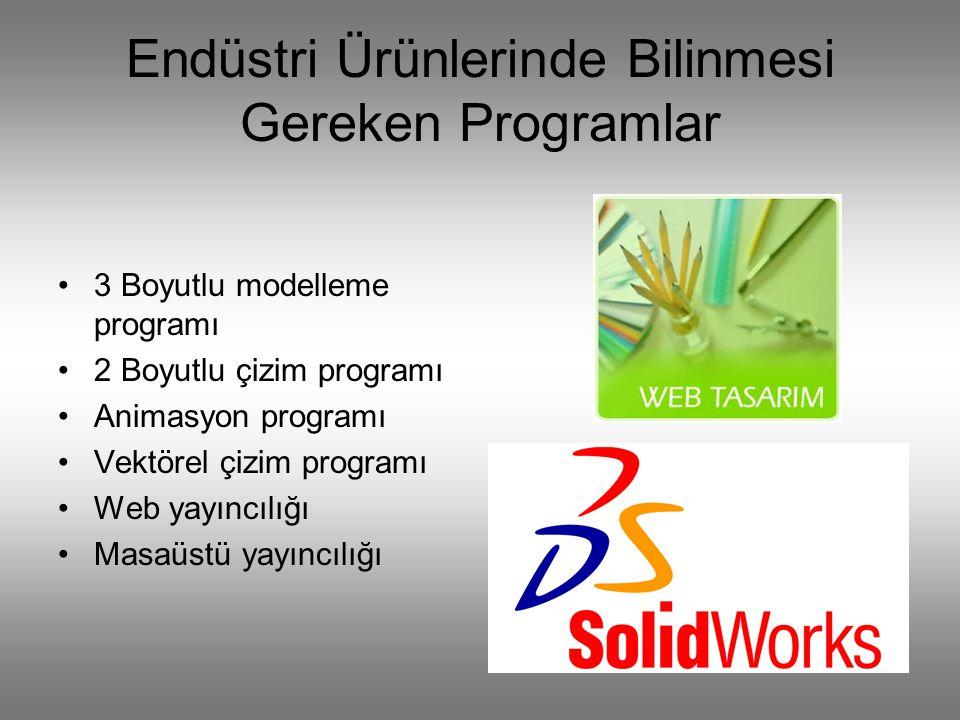 Endüstri Ürünlerinde Bilinmesi Gereken Programlar