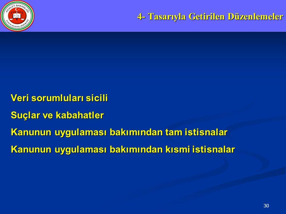 4- Tasarıyla Getirilen Düzenlemeler