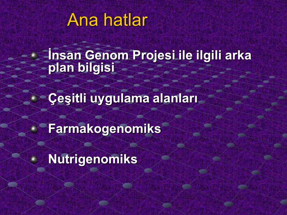 Ana hatlar İnsan Genom Projesi ile ilgili arka plan bilgisi