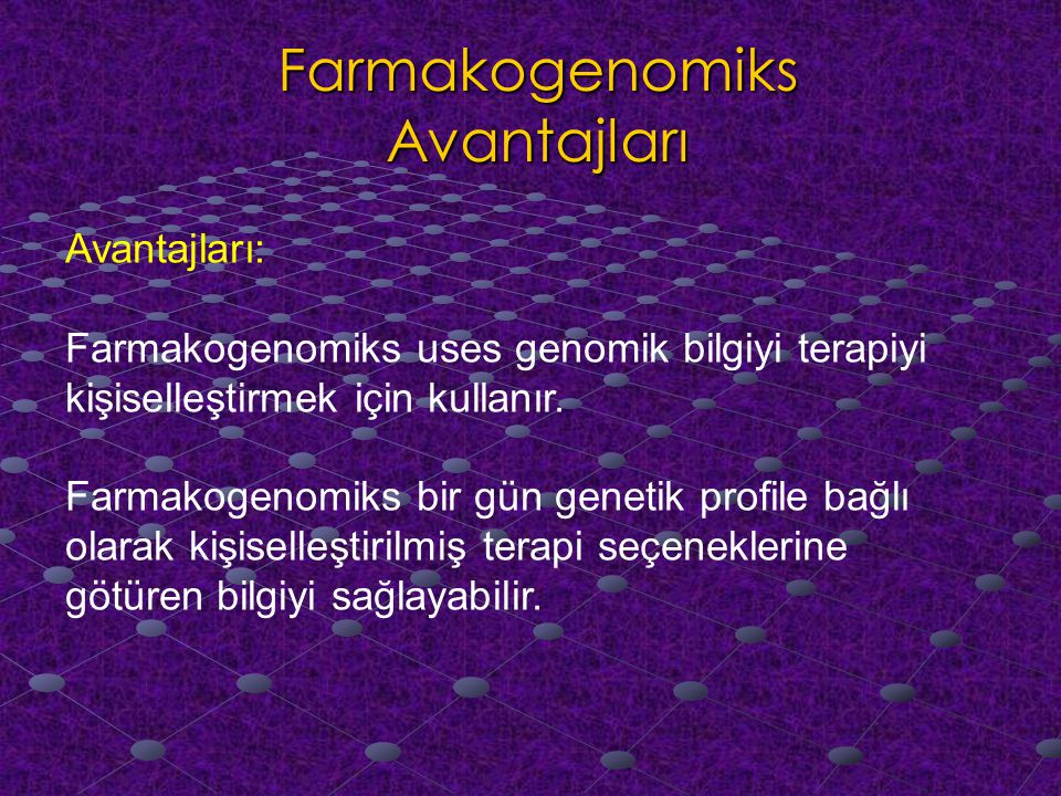 Farmakogenomiks Avantajları